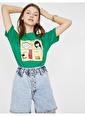 Koton Koton Love T-Shirt Yeşil